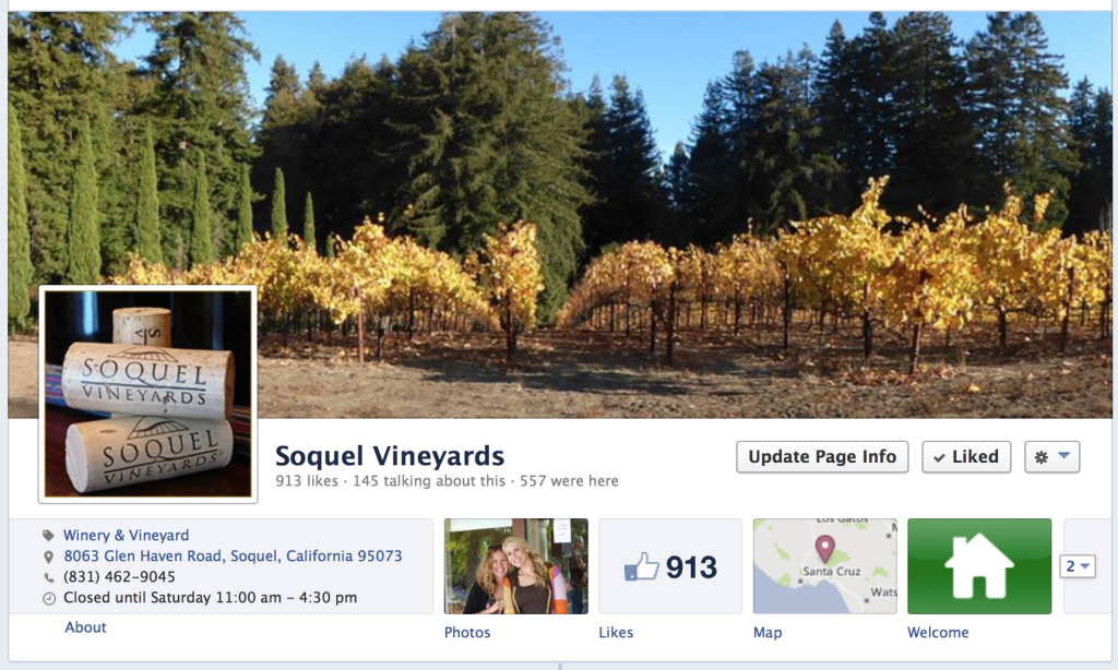 Soquel Vineyards FB Page